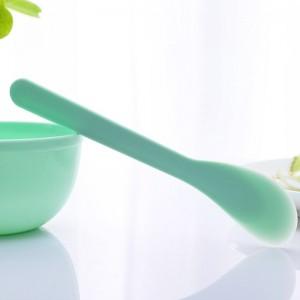 1 Set DIY Facial Mask Mixing Bowl Brush Spoon Stick Tool High Quality Soft Plastic Beauty Facial Makeup Tool Kit Random Color
