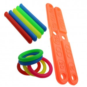 1 Set Plastic Ring Throwing Ferrule Funny Kids Outdoor Sport Hoop Ring Toss Quoits Toy Cross Garden Games Pool For Children Gift