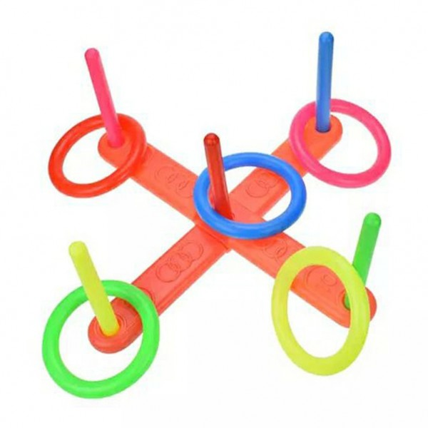 1 Set Plastic Ring Throwing Ferrule Funny Kids Outdoor Sport Hoop Ring Toss Quoits Toy Cross Garden Games Pool For Children Gift