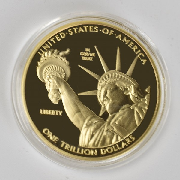 1 Trillion Dollar Gold Coins Collectibles Silver Plated US Collection Metal Coin