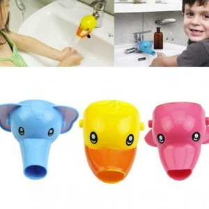 1 pc Happy Fun Animals Faucet Extender Baby Tubs Kids Hand Washing Bathroom Sink Gift Fashion and Convenient