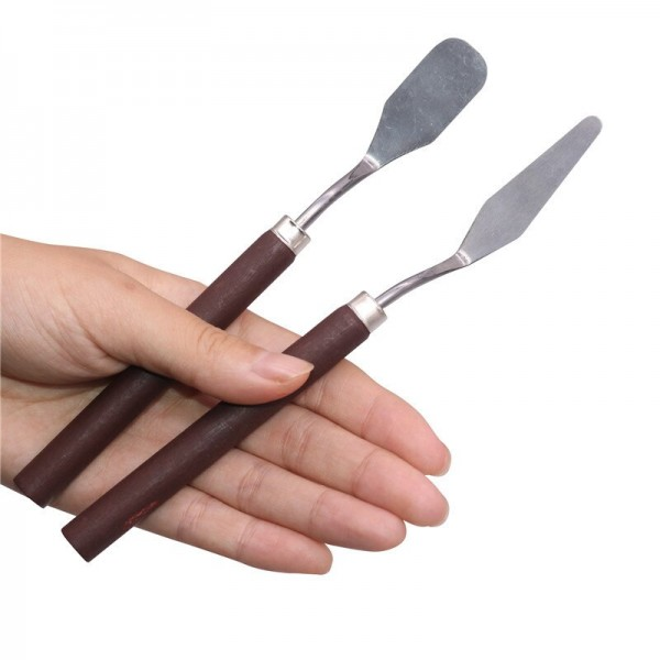 1 pcs Stainless Steel Spatula Palette Knife Oil Painting Scraper Artist For Color Mixing Painting Tools Art Supplies