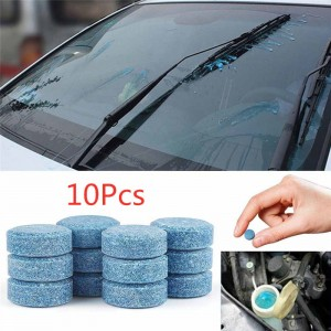 10 Pcs  Multifunction Car Cleaner Compact Glass Washer Detergent Effervescent Tablets Car Accessories Auto Accessories TSLM2