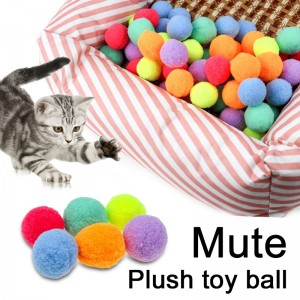 10\\20\\30 PCS Funny Cat Toys Stretch Plush Ball For Dog Creative Colorful Interactive Cat Toy Pet Exercise Toys For Cats Pet Toys