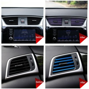 10PCS Car Sticker Air Conditioning Outlet Decorative Strip Car Accessories Interior U Shaped Pendant Auto Product Dropshipping