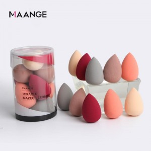 10PCS/Box Mini Makeup Sponge Puff Foundation Concealer Puff Wet And Dry Use Powder Smooth Cosmetic Make Up Puff Beauty Tools Hot
