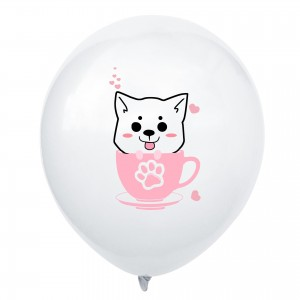 10pcs Cartoon Teacup Cat Latex Balloons Cute Pet Air Balloons Baby Shower Kids Birthday Party Decorations Wedding Supplies