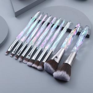 10pcs Crystal Makeup Brushes Set Cosmetic Powder Foundation Eye shadow Eyebrow Lip Make Up Brush Kit Brochas Maquillaje Beauty