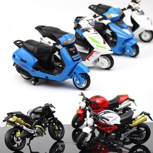 1:18 Plastic Motorcycle Electric bicycle Model Toy Sport Race Model Motorbike For Children Gift Collection