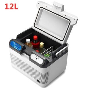 12L Auto Refrigerator Car Refrigerator 12V/240V Camping Portable Mini Fridge Compressor Car Fridge Cooler & Warmer 10-65 Degree