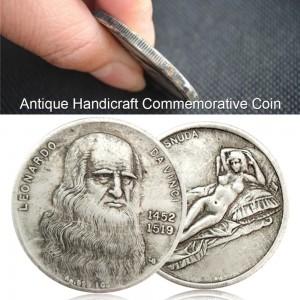 1452-1519 Da Vinci Coin Handicraft Silver Coin Commemorative Collection