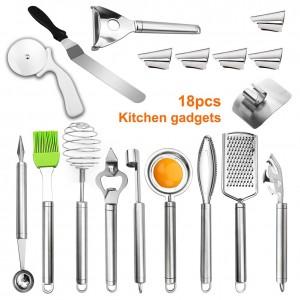 18 Pcs Kitchen Tools Set Household Kitchen Supplies Gadgets Stainless Steel Cooking HUG-Deals