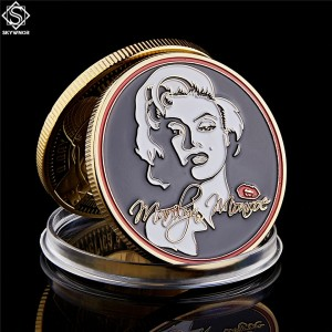 1962 USA Super Star Marilyn Monroe Sexy Commemorative Gold Plated Token Coin Collection Gifts