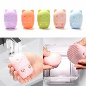 1PC Beauty Powder Puff Blender Holder Sponge Makeup Egg Drying Case Portable Soft Silicone Cosmetic Blender Sponge Box Holder
