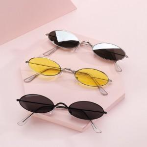 1PC Fashion Design Retro Small Oval Sunglasses Okulary Vintage Shades Sun Glasses for Men Women Anti-blue light Eyeglasses