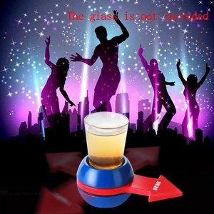 1PC Turntable Roulette Glass Plastic Spin the Shot Drinking Game Spinning Fun Party Home Adult toys Novelty Glass Drinking Game