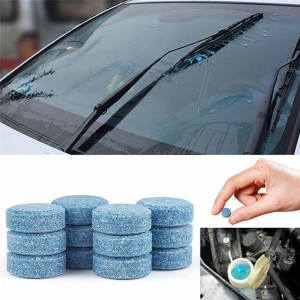 1Pcs Car Windshield Glass Cleaner Car Solid Tablets Wiper Fine Wiper Auto Window Cleaning Effervescent Tablets  Car Accessories
