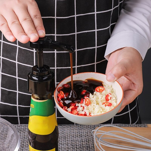 1Pcs Household Kitchen Supplies Reusable Syrup Bottle Nozzle Pump Push-type High Quality Food Grade Oil Sprayer