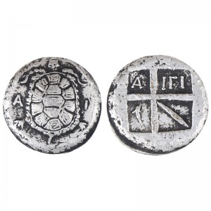 1pc Ancient Greek Silver Token Coin Small Collection Silver Plating COINS Home Decoration business gifts, friend gifts