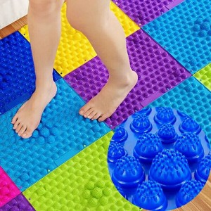 1pc Durable Reflexology Foot Massage Pad Toe Pressure Blood Circulation Mat Health Care Sport Children Activity Game Sensory Toy