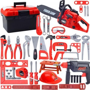 1set Kids Toolbox Kit Educational Simulation Repair Tools Toys Drill Plastic Game Learning Engineering Puzzle Toys For Boy Gifts