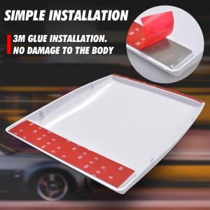 1x Universal Car Bonnet Hood Scoop Air Flow Intake Vent Cover 28*25*3.3cm White/ Black Auto Air Flow Vent Cover Accessories