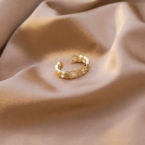 2020 Korean New Exquisite Fashion Opening Ring Temperament Simple Versatile Small Ring Elegant Ladies Banquet Jewelry