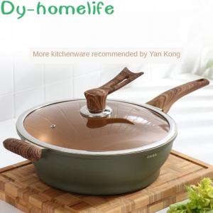 20/24/26/28/32cm Maifan Stone Non-stick Pan  Cooker  Soup Pot Saucepan Wok Frying  Kitchen Pots Household Kitchen Supplies