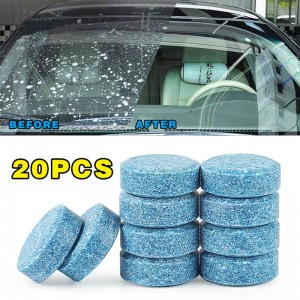 20pcs=80L Water Car Windshield Glass Washer Wiper Cleaner Effervescent Tablets Window Repair Car Window Cleaner Auto Accessories