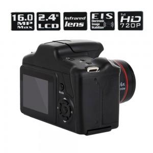 2.4'' HD 1080P SLR Camera CMOS Dry Battery Domestic Telephoto Digital Camera Portable Digital Fixed Lens 16X Zoom AV Interface