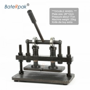 26x12cm Double Wheel Hand leather cutting machine,BateRpak photo paper,PVC/EVA sheet mold cutter,leather Die cutting machine
