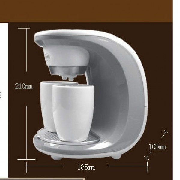 2Cups Espresso Cappuccino 350W Machine Latte Electric Double Serve Drip Coffee Maker Household Kitchen Appliances