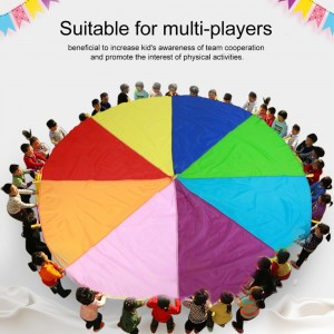 2M/3M/3.6M/6M Diameter Outdoor Rainbow Umbrella Parachute Toy Jump-Sack Ballute Play Teamwork Game Toy For Kids Gift Hot Sale