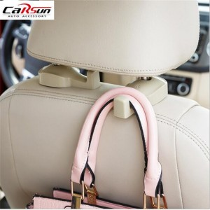 2pcs Car Hook Auto Vehicle Seat Headrest Silica Gel Bag Hook Car Interior Accessories Hanger Holder Hanger Gift Suits