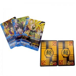 34 pcs/lot Dragon Ball Collection Cards Super Saiyan Goku Vegeta Dragon ball z music box King Trading Cards Kid Gift Toy