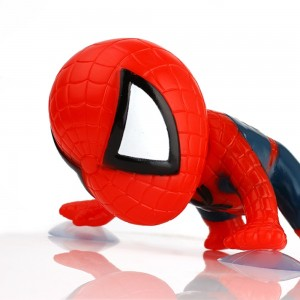 360 Degree Rotating Cute 16cm Climbing Spiderman Sucker Doll Suction Cup Toy Auto Car Stickers Decoration Car Accessories