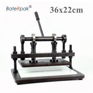 36x22cm Double Wheel plus Hand leather cutting machine,BateRpak photo paper,PVC sheet cutter,leather Die cutting machine