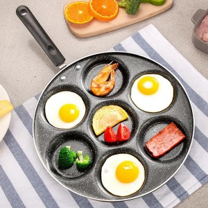 7 Holes Non Stick Fried Eggs Cooking Pan Frying Pan Burger Mold Household Kitchen Appliance