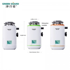700W Food waste disposer LED Smart Display Wireless Switch  Disposal Crusher Food Garbage Processor Household kitchen appliances