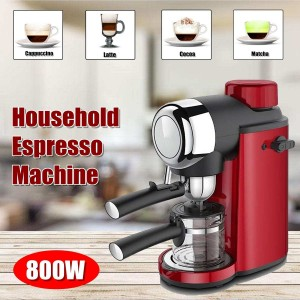 800W 220-240V 240ML Stainless Steel Portable Coffee Maker Espresso Coffee Machine Household Kitchen Appliance With Coffee Kettle