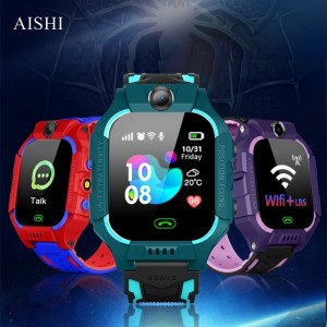 AISHI Q19 Kid Smart Watch LBS Position Location SOS Camera Phone Smart Baby Watch Voice Chat Smartwatch Mobile Watch VS Q02 Z6