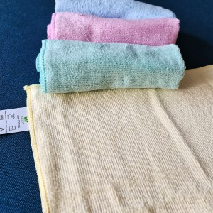 APSOT Baby Washcloths 4 Pack 12x12 Inches Microfiber Coral Fleece Extra Absorbent and Soft for Newborns, Infants and Toddlers
