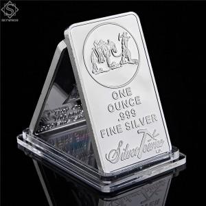American Prospector 1OZ 999 Value Fine Silver Bullion Bar US Union Metal Coin Collectible