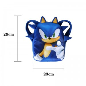 Anime Figure Sonic the Hedgehog Children Bag Cos Costume for Children Game Figure Toys Sonic Performance Props Kids Boys Girls