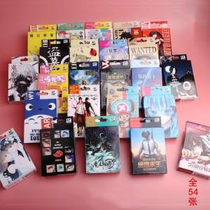 Anime cartoon Poker Cards toy SAO ONE PIECE naruto Fairy Tail dragon ball conan Cosplay Board Game Cards Hardcover poker toy