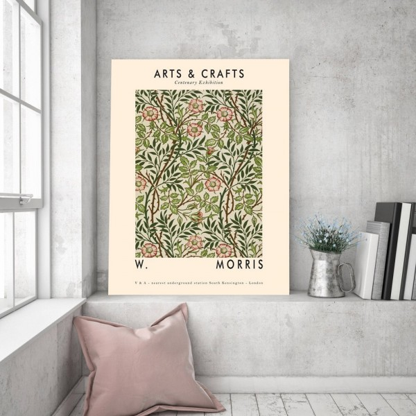 Arts & Crafts Floral Poster Wall Art Canvas Painting Green Plant Nordic Posters and Prints Decor Picture Modern Home Decoration