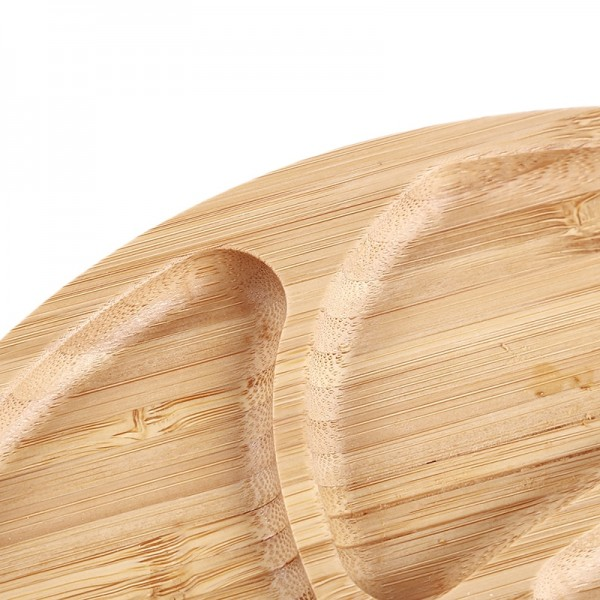 Bamboo Leaf Shape Plate Separated Fruit Storage Trays Japanese Simple Style Dessert Fruit Food Dish Household Kitchen Supplies