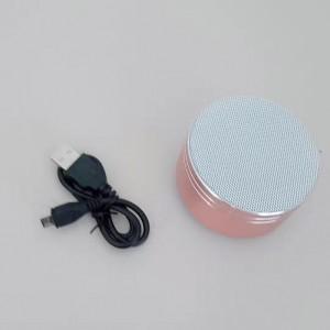 Bomtss Bluetooth mini speaker mini   portable car 3D surround sound (rose gold)