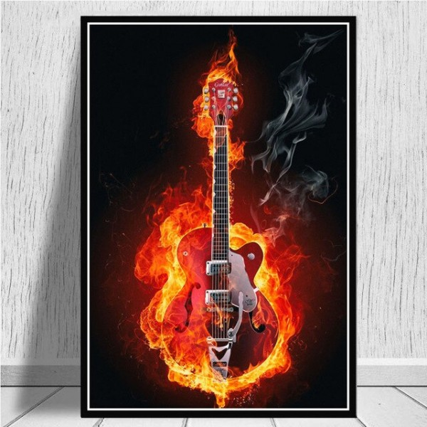 Canvas Prints Pictures Wall Art Guitars Instrument Collections Music Quote Painting Home Decor Modular Nordic Poster Living Room