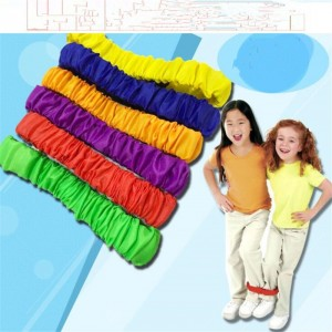Children Two People Three-legged Ropes Tied To The Foot Running Race Sports Game Children Outdoor Toys Kid Cooperation Training